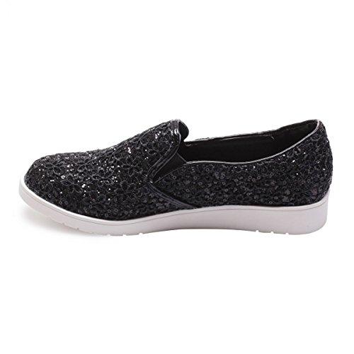 La Modeuse - Zapatillas de deporte para mujer, negro (negro), 41
