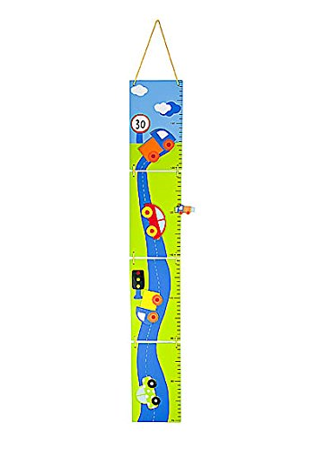 Toise en bois sur le thème des voitures pour garçon et bébé garçon Mousehouse Gifts MH-1100158