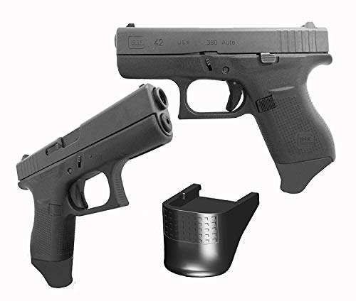Garrison Grip ONE .875 Inch Extra Long Grip Extension Fits Glock 43 G43 9mm (Vickers Tactical Magazine Floor Plate 2 Glock 43)