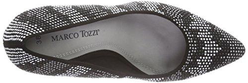 Marco Tozzi Damen 22436 Pumps Schwarz (BLACK COMB 098)