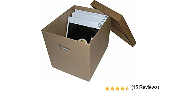 CUIDATUMUSICA Caja DE CARTÓN Solido para Guardar 100-125 Discos DE Vinilo LP/Ref.2032: Amazon.es: Electrónica