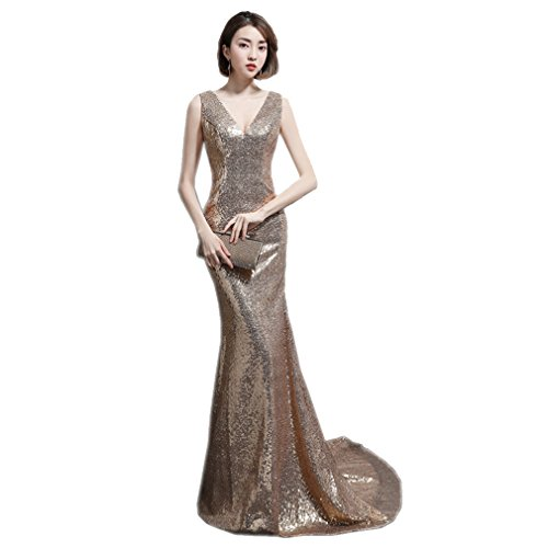 V Sleeveless Neck Mermaid Long Women`s Dress cotyledon Dresses Slim IxOXtxq