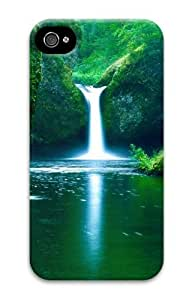iphone 4 cover fashion Spring Waterfall 3D Case for Apple iPhone 4/4S