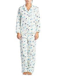 Casual Nights Women's Sleepwear Flannel Long Sleeve Pajama Set