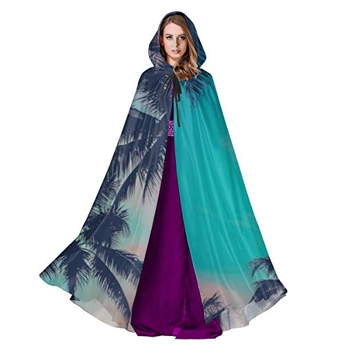 Sun Ra Halloween Costume (Cloak for Men and Woemn Vintage Retro Filtered Hawaii Palm Trees at Sunset Cloak Cape)