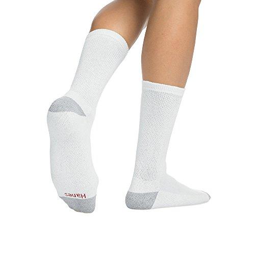 (Hanes Men's Cushion Crew Socks,White,2Pk (20 Pairs) 10-13)