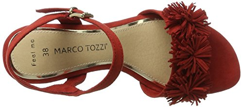 Marco Tozzi Women's 28315 Open Sandals Red (Red 500) 3HAvqK