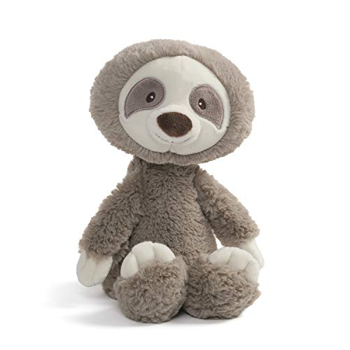 "Baby GUND Baby Toothpick Reese Sloth Plush Stuffed Animal, Taupe, 12"""