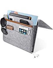 YUEMIDAMY Bedside Caddy Pocket, Home Sofa Bedside Desk Felt Hanging Storage Organizer Bag Holder