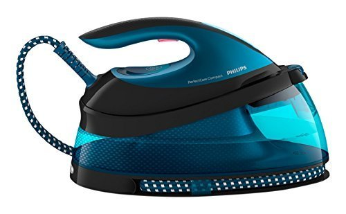 K-Crew 220~240v Philips Perfect Care GC7833/88 Viva Steam Generator Iron White & Blue 6 Bar Pump Energy Class A