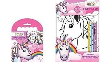 Copywrite Designs Emoji Licorne Jeu De Coloriage Portable Et A4 Jeu