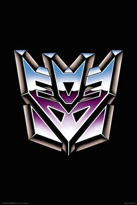 Aquarius Transformers Decepticon Logo Poster, 24-Inch by 36-Inch
