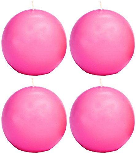 Biedermann & Sons Ball Candles, 1.5-Inch, Pink, Box of 4