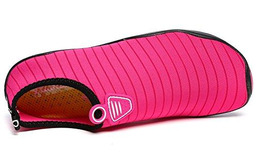 Bain Surf Été Chausson Rose Respirant Chaussures Homme Pour Plage Gaatpot de Chaussures Sport Aquatique Antidérapant Plongée Femme Nager qUwpOx7a