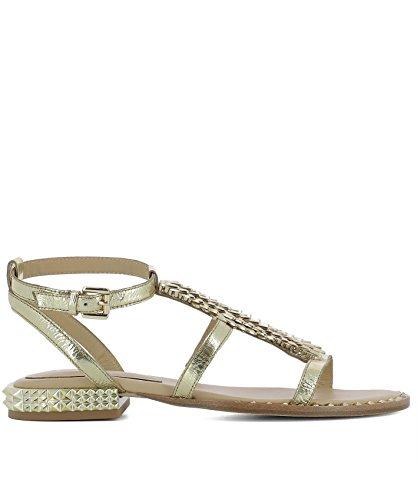 ASH Damen PIXEL01ARIEL Gold Leder Sandalen
