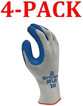 SHOWA Atlas 300BL-09 guante de goma natural con