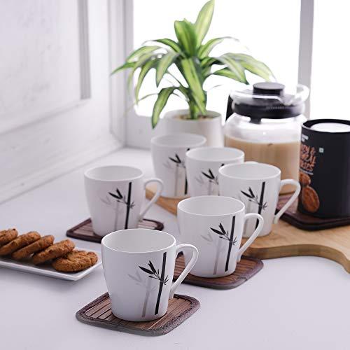 Clay Craft Master MW Bone China Coffee Mug Set, 150ml, Set of 6, Multicolour6 Pcs. Coffee Mugs- (CM-MASTER-MW-J051) Price & Reviews
