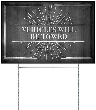 Vehicles Will Be Towed 27x18 CGSignLab Nostalgia Burst Premium Acrylic Sign