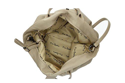Tasche damen mit schultergurt PIERRE CARDIN schlamm Made in Italy VN176