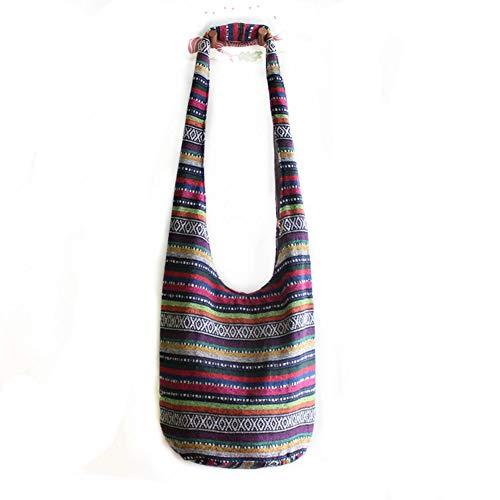 MOLLYGAN Women's Folk Style Canvas Sling Shoulder Bag Crossbody Bag Hobo (Color 4)