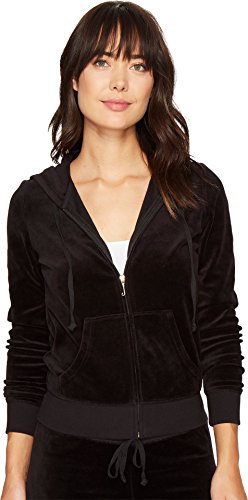 Juicy Couture Black Label Women's Velour Robertson Jacket, Pitch, S from Juicy Couture