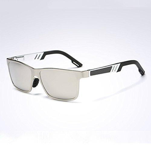 Color UV Conducción De Caja Azul claro De 100 Gafas Gafas Polarizada Hombres Anti Protección Luz Libre Sol Solar UVA Protección Clásico WYYY Cuadrada Gris Gafas Aire qBwRxF