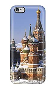 Awesome Design Red Square Russia Hard Case Cover For Iphone 6 Plus