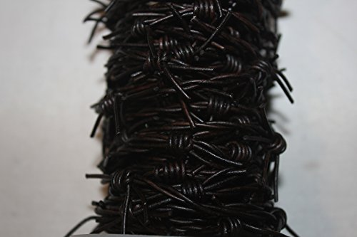 Barbed Wire - Leather Cords - 10 Yard/Spool, 5 Yard-Bunch Packing - Many Colors Including Metallic (5 Yards, Dyed Dark Brown (Barbed-410))