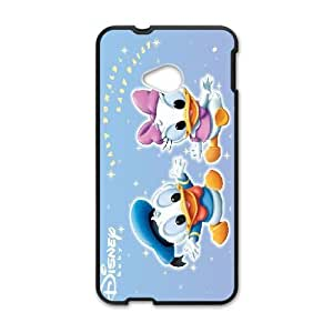 HTC One M7 Phone Case Black Donald Duck WQ5RT7420743