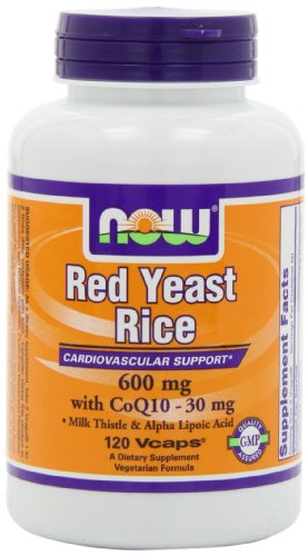 NOW Foods Красный дрожжевой рис и коэнзима Q10, 120 Vcaps