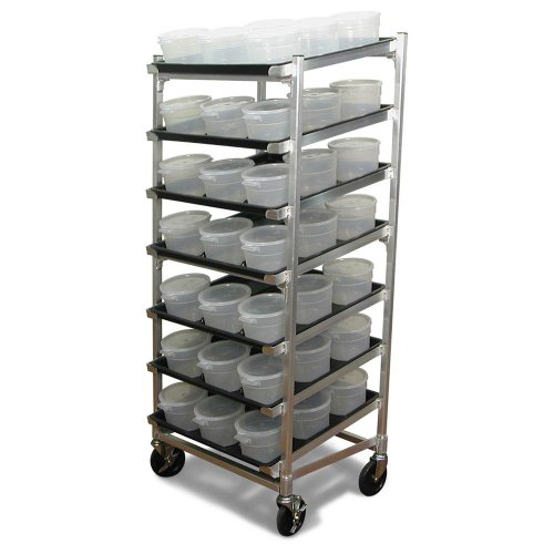 DoughXpress DXDC-5NT Stainless Steel Dough Ball Storage Cart, 28'' Length x 20'' Width x 54'' Height by DoughXpress