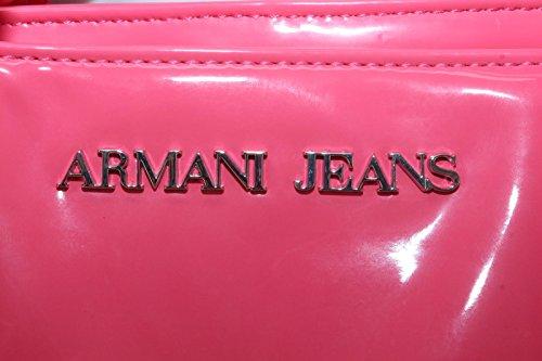 Borsa donna Armani Jeans articolo V5240 colore ROSA lucido, tessuto morbido