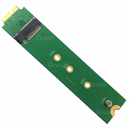 QNINE M.2 NGFF SSD to 18Pin Adapter As SSD of 2010-2011 Air A1369 A1370 MC503 MC504 MC965 MC966 MC505 MC506 MC968 MC969