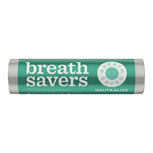BREATH SAVERS Sugar Free Mints, Wintergreen, 0.75 Ounce Roll (Pack of 24) (Wintergreen Mints)