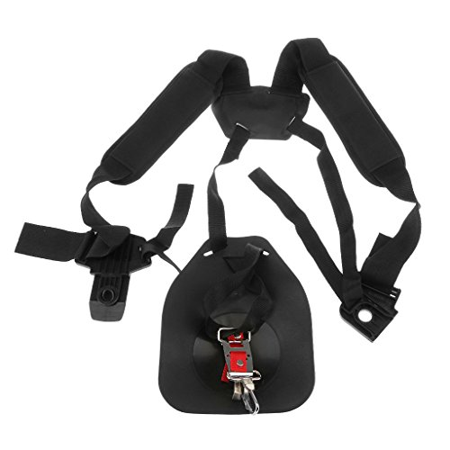 MagiDeal Strimmer Double Shoulder Harness Strap Padded Belt For Brush Cutter Trimmer Power Pruner