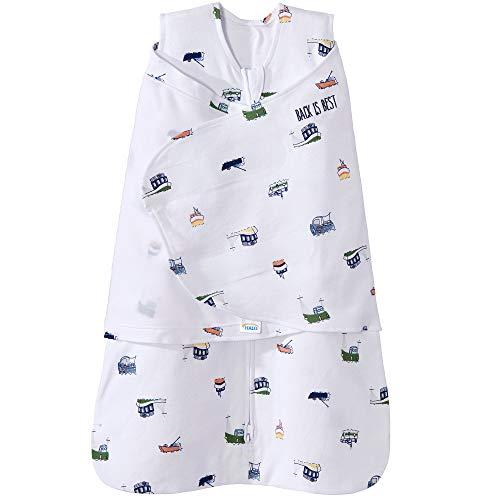 Halo 100% Cotton Sleepsack Swaddle Wearable Blanket, Nautical Tug Boats, Newborn