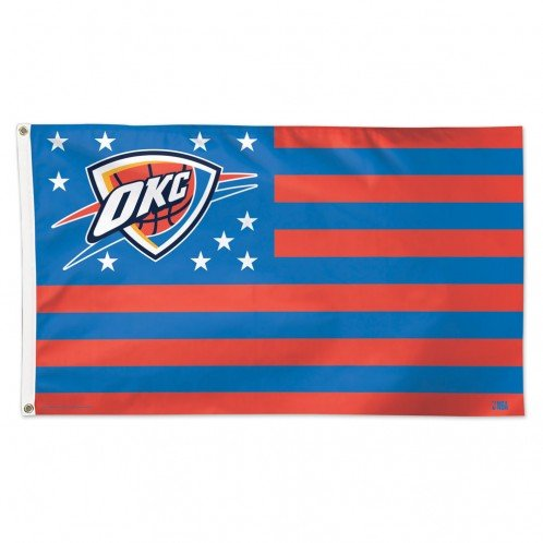 Oklahoma City Thunder OKC NBA American Flag 3 x 5 Foot by WinCraft