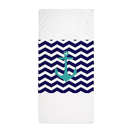 Nautica Cotton Bath Towel (Zhiqing Blue Anchor Chevron Bath towels Pool Towels Microfiber Beach Towel 70*150cm)