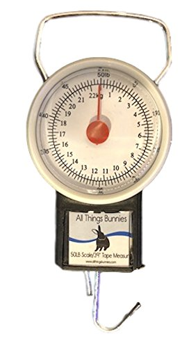 All Things Bunnies 50lb Hanging Scale & Tape Measure (Pig Measure Tape)