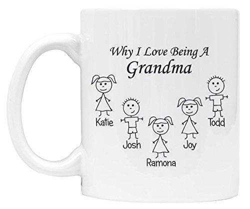Grandparents Christmas Gift Coffee Mug, Grandma Gifts, Grandpa Gifts, Personalized and Custom - DSM10