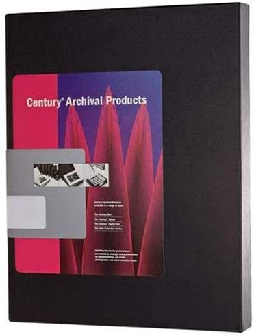Black Century Archival 14 x 18 Clamshell Print Storage Box 14 1//2 x 18 1//2 x 2 by Century Color