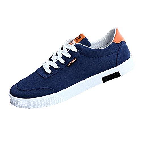 da in Scarpe Uomo comode Scarpe Sneakers Low Tela Sportive in Autunno Casual Tela Blu Adolescenti Traspirante e Top per Moda Primavera SdSEBw