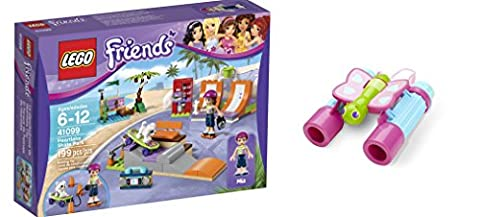 LEGO Friends Heartlake Skate Park 199 Pcs & free Gifts Butterfly Binoculars (Colors may vary) Toys