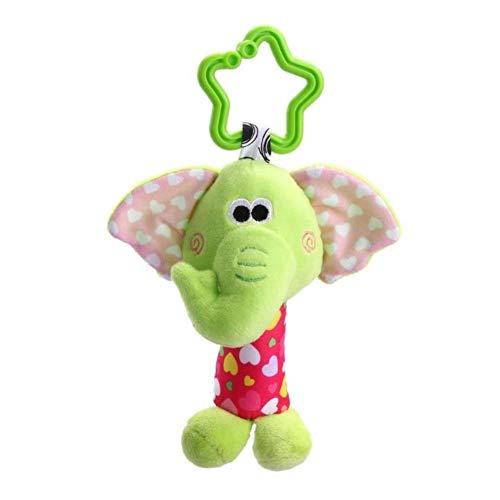 Kids Baby Rattles Toys Cotton Stroller Pram Crib Hanging Soft Plush Toys Animal Clip Baby Crib Bed Hanging Toys for Babies