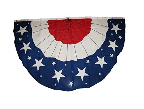Hebel 3x5 USA American America U.S. Bunting Fan Flag 3x5 Banner Brass Grommets 5x3 | Model FLG - 192]()