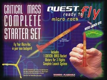 RTF Micro Critical Mass (1)Rocket Starter Set HAZ by Quest (Rtf Rocket Starter)