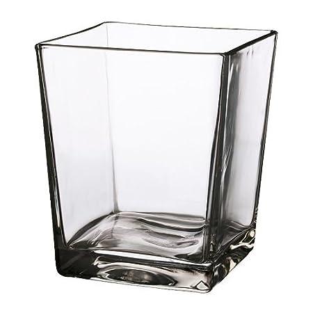 Vasen Ikea ikea kanist vase clear glass 17 cm amazon co uk kitchen home