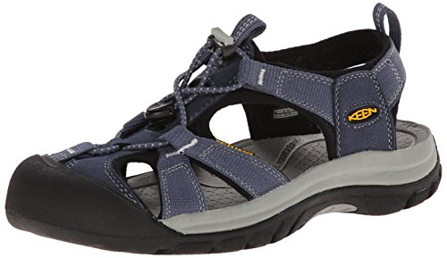 KEEN Women's Venice H2 Sandal, Midnight Navy/Neutral Gray, 9.5 M US