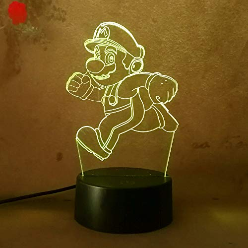 Amroe New Cartoon 3D LED Night Light Lava Mario House Super Gift for Children Baby Bedroom Lamp Light Desk Table Lamp Praty Decoration Kids Toys Birthday Gifts