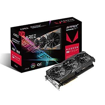 Image of ASUS Arez Strix Radeon Rx Vega64 8GB OC Edition VR Ready 5K HD Gaming DP HDMI DVI AMD Gaming Graphics Card Graphic Cards AREZ-STRIX-RXVEGA64-O8G-GAMING Graphics Cards
